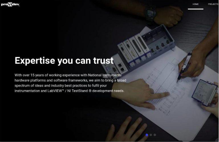 providev singapore labview developer website